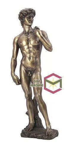 David De Miguel Angel Acabado En Bronce De 33cm Alto