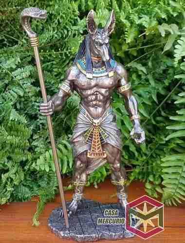 Dios Perro Anubis Acabado En Bronce De 28cm