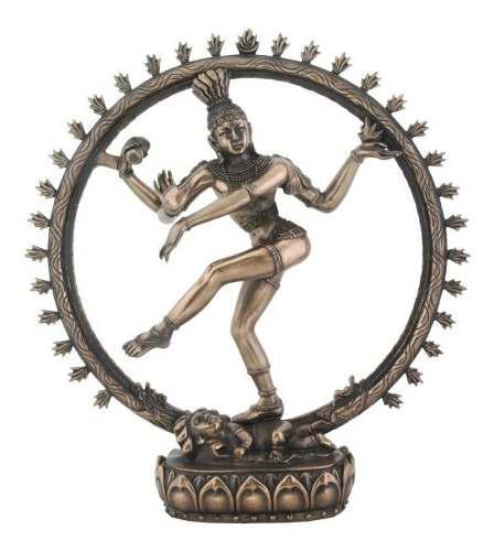 Dios Shiva Del Hinduismo 24cm De Altura Acabado En Bronce