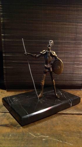Don Quijote Dela Mancha Escultura En Bronce Base De Mármol