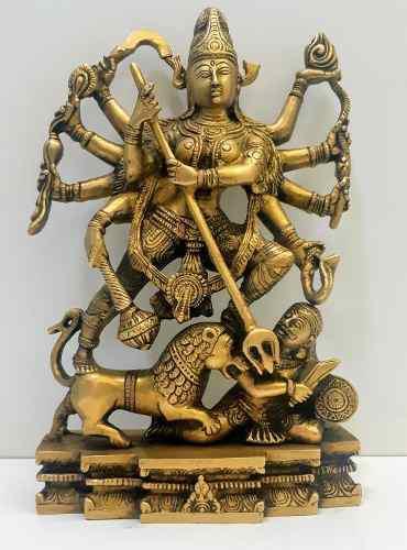 Durga Escultura En Bronce
