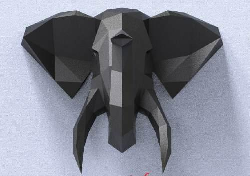 Elefante De Papel 3d Papercraft Origami Escultura