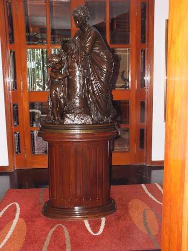 Escultura Bronce Eugene Aizelin 1887 L´enfance De Tacite