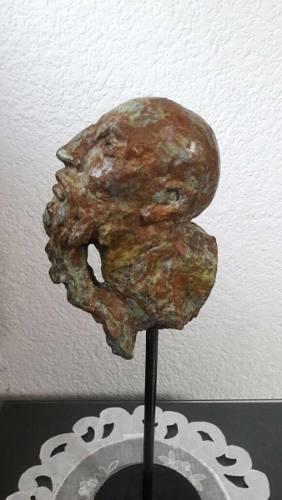 Escultura Bronce Rostros, Caras, Colección Javier Marin 2/8