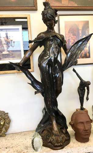 Escultura De Bronce Italiana De Egisto Rossi Finales De 1800