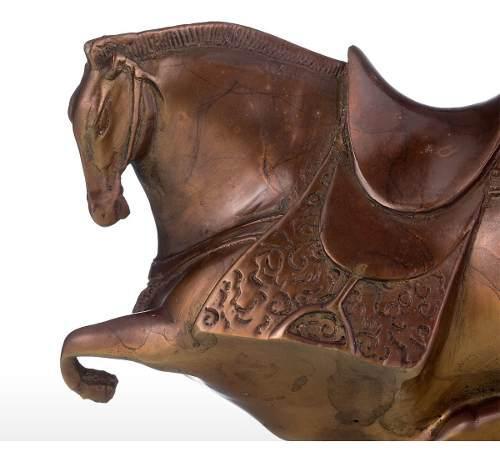 Escultura De Caballo Gordo Tooarts, De Bronce, Exagerada