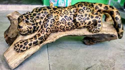 Escultura De Jaguar Tallado En Madera (por Encargo)
