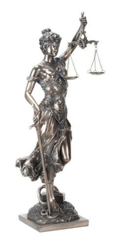 Escultura De La Justicia Acabado En Bronce De 34cm
