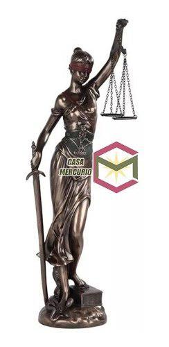 Escultura De La Justicia Acabado En Bronce De 46cm