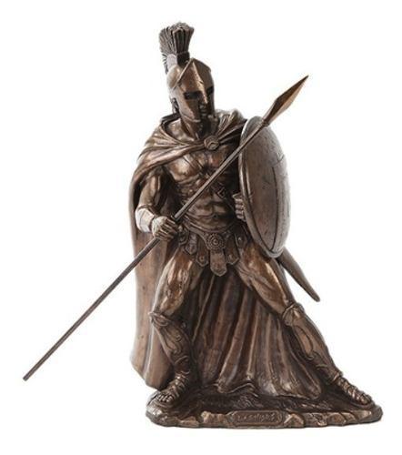 Escultura De Leonidas De 29cm Acabado En Bronce
