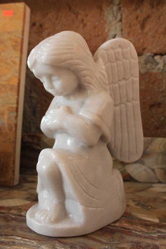 Escultura De Mármol Ángel De La Guarda