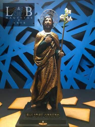 Escultura De San José Con Capelo Y Devocionario