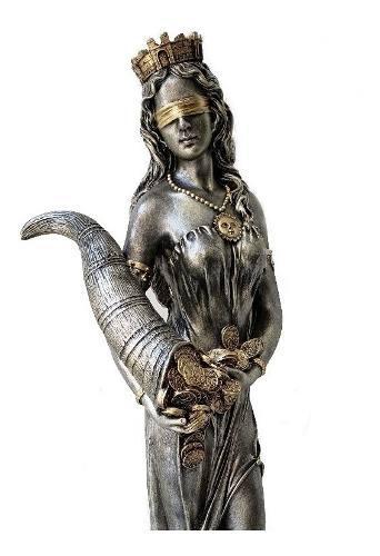 Escultura Diosa De La Fortuna De 70 Cm Resina