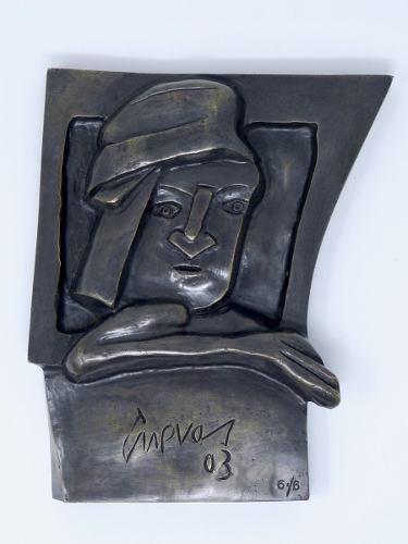 Escultura En Bronce Original De Jose Luis Cuevas 2003 Ed 6/6