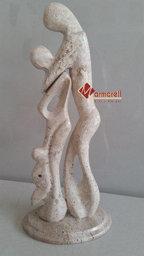 Escultura En Mármol Fiorito La Familia. Decoración