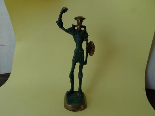 Escultura Quijote De La Mancha En Bronce