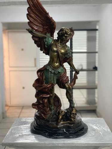 Escultura San Miguel Arcángel De Bronce