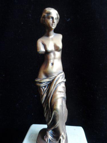 Escultura Venus De Milo Sobre Mármol Antigua Importada