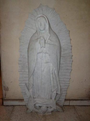 Estatua De Mármol De La Virgen Ideal Para Arte Funerario!