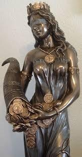 Figura De Resina Diosa De La Fortuna 70 Cm