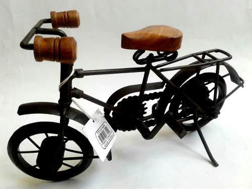 Figura Decorativa Bicicleta A Escala En Metal Vintage