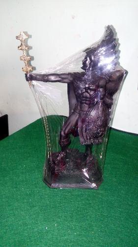 Figura Decorativa, Caballero Águila, Fig. De Resina 34 Cm