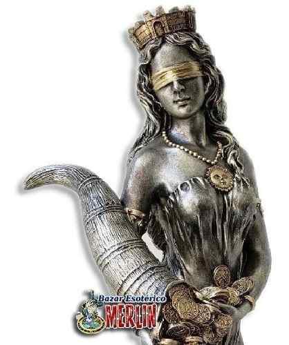 Figura Diosa De La Fortuna En Resina - 70 Cm