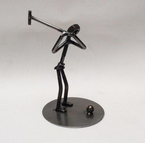 Golfista Hombre / Figura De Metal / Fierro