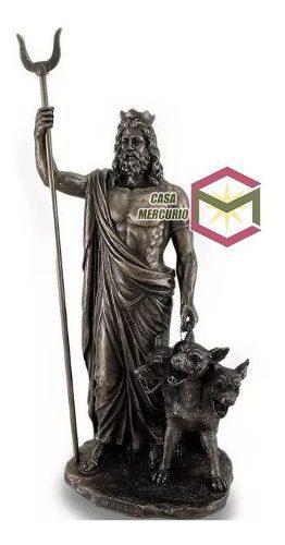 Hades Dios Griego Acabado En Bronce De 33cm Alto