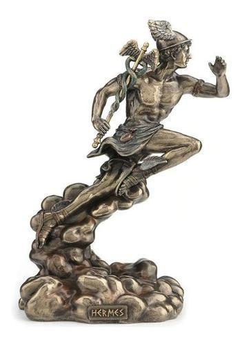 Hermes De 22 Cm De Altura Acabado En Bronce