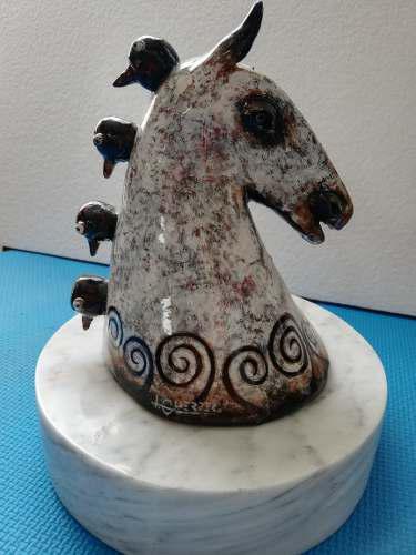 Hermosa Escultura En Cerámica Del Maestro Ignacio Guerrero