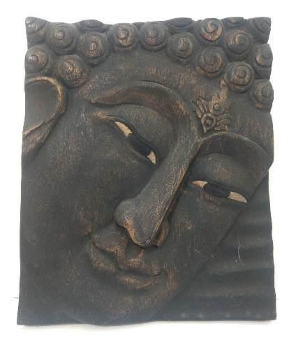 Hermoso Rosto Tallado En Madera De Teka, Buda, Buddha. Thai