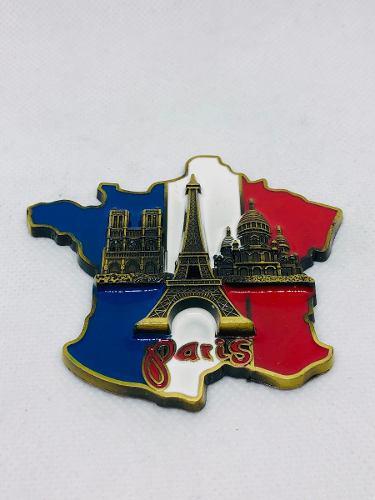 Imanes Metal Torre Eiifel Souvenir Francia Paris 8 Cm 3d