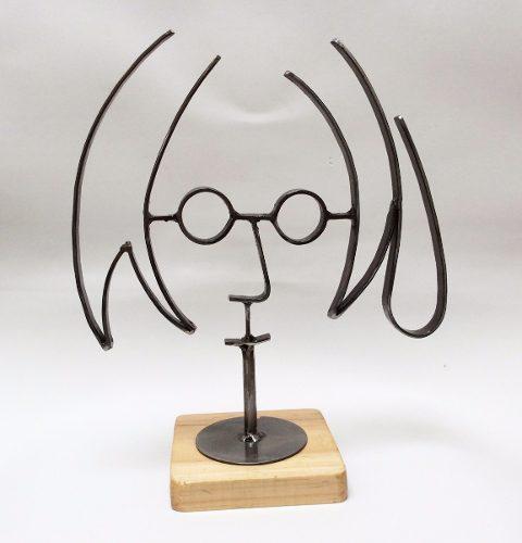 John Lennon Chico / Figura De Metal / Fierro / Base Clara