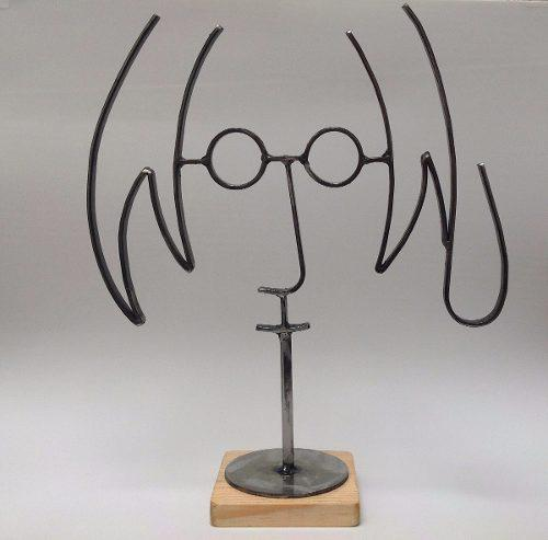 John Lennon Grande / Figura De Metal / Fierro / Base Clara