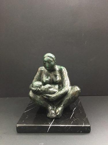 Jorge Luis Cuevas. Escultura De Bronce. Firmada Y Seriada