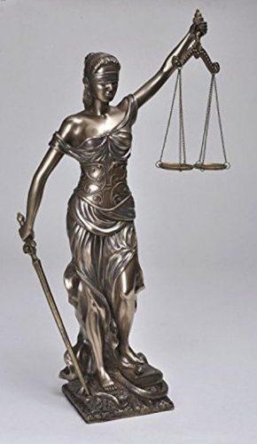 Justicia Acabado En Bronce De 45cm De Altura