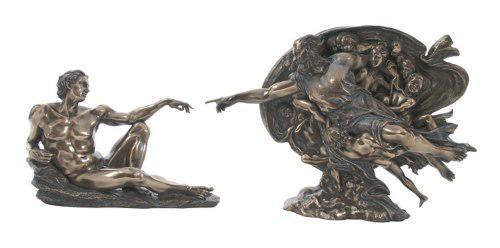 La Creacion De Miguel Angel Acabado En Bronce De L= 28cm