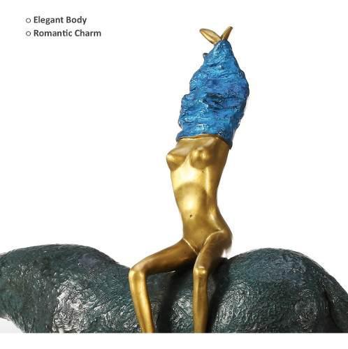 La Escultura Bronce Muchacha Y Caballo Arte Abstracto Escult