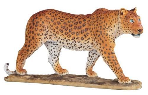 Leopardo Bellamente Detallado De 42cm De Largo