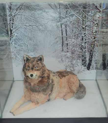 Lobo Artesanía Figura Plastilina Elaborada A Mano Pza