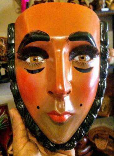 Mascara Tradicional De Parachico Tallado En Madera De Cedro