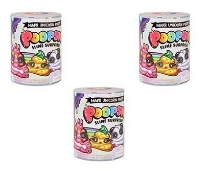 Pack De 3 Poopsie Slime Surprise 10 Sorpresas Unicornio Lol