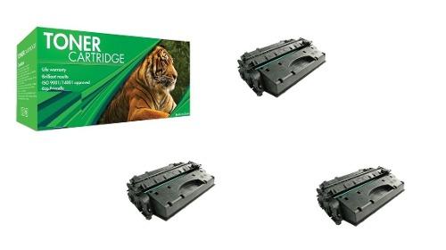 Pack Kit De 3 Pzas Toner 05x 80x Canon 120 Compatible Nuevo