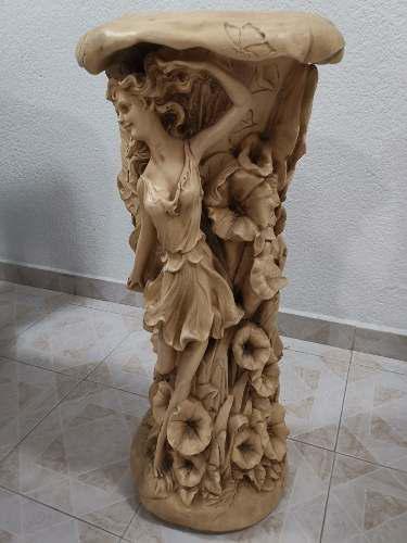 Pedestal De Yeso Figura De Hadas Para Fuentes, Mesa, Etc