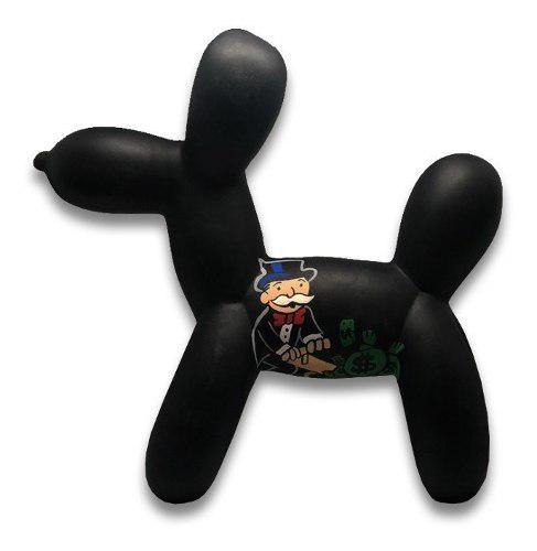 Perro Jeff Koons Ballon Dog Pintado A Mano Con Alec Monopoly
