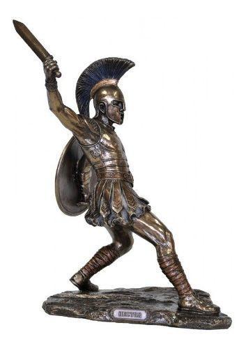 Principe Troyano Hector De 29cm Acabado En Bronce