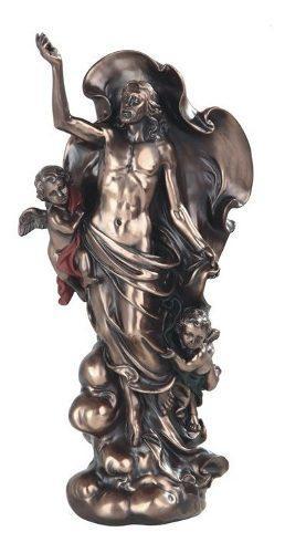 Resurrección De Cristo Acabado En Bronce De 30cm
