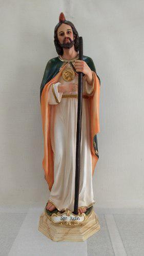 San Judas Tadeo De 84 Cm Fibra De Vidrio Ojos De Cristal