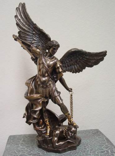 San Miguel Acabado En Bronce De 36cm